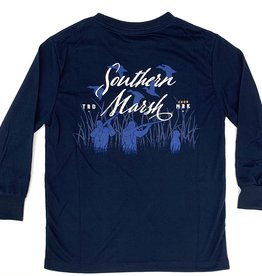Southern Marsh Navy Moving Flyover Fieldtech Comfort Tee