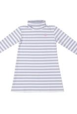 Cornflower Stripe Tisbury Turtleneck Dress