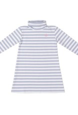 Nantucket Kids Cornflower Stripe Tisbury Turtleneck Dress