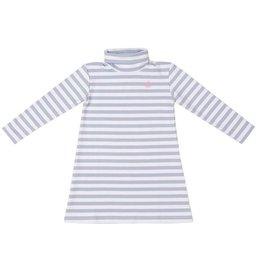 Nantucket Kids Cornflower Stripe Tisbury Turtleneck Dress