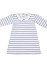 Nantucket Kids Cornflower Stripe Pima Play Dress