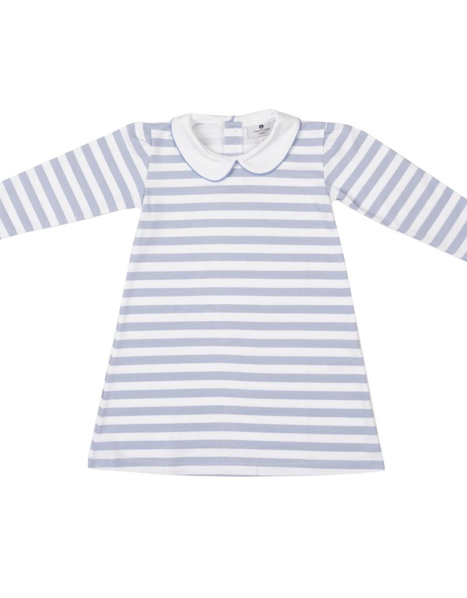 Cornflower Stripe Pima Play Dress