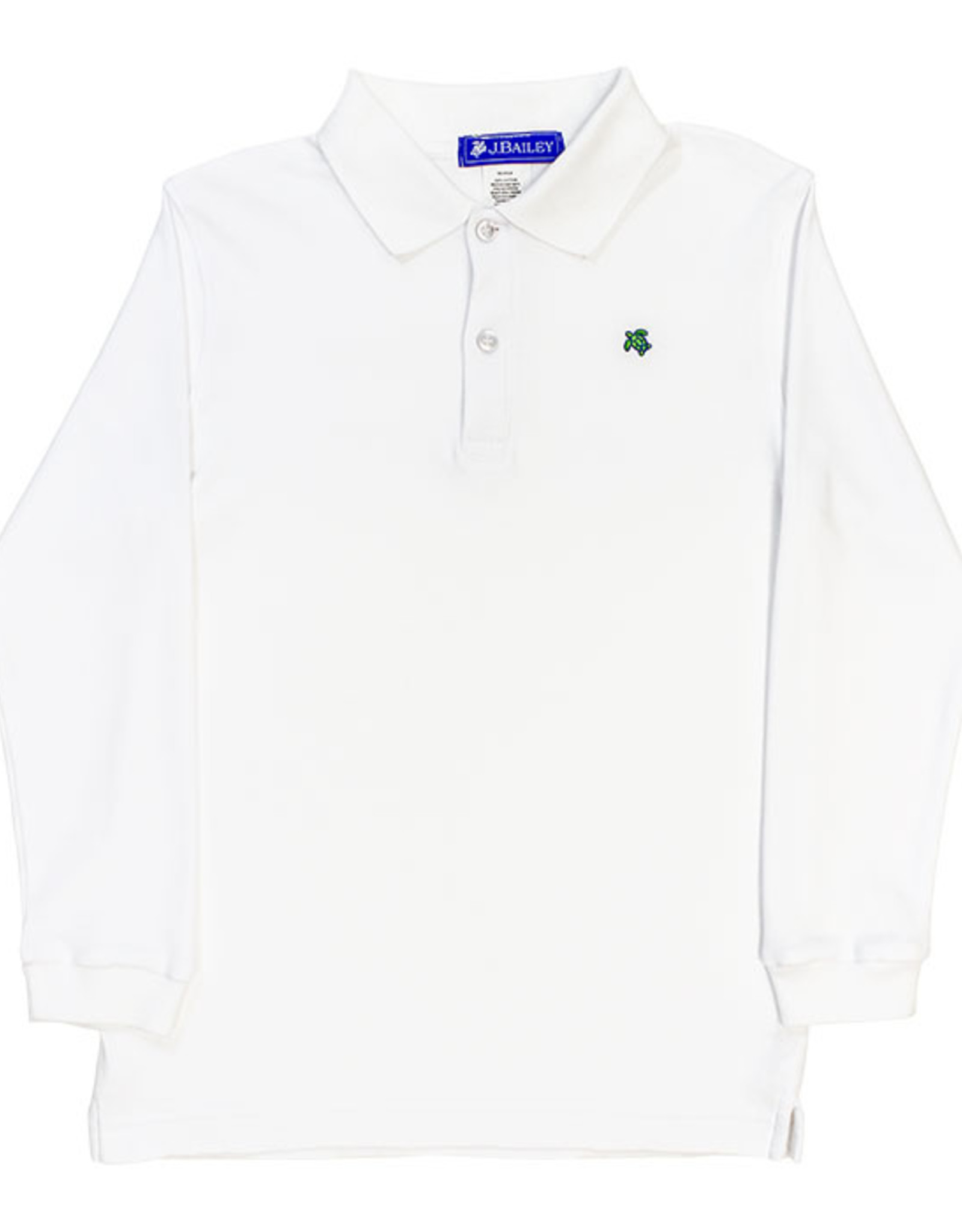 The Bailey Boys Long Sleeve White Polo