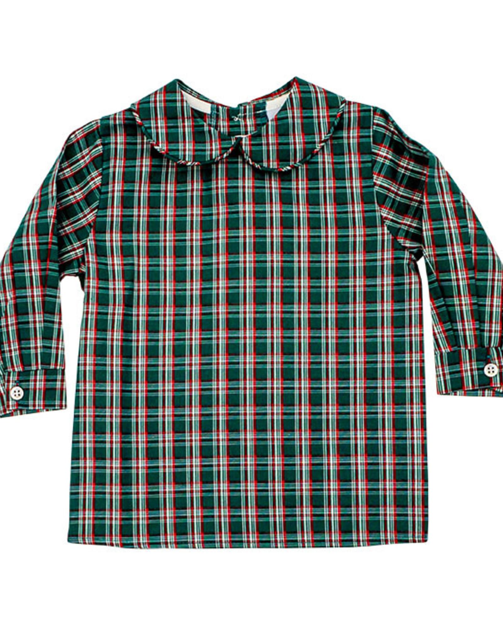 The Bailey Boys Holly Plaid Boys Piped Shirt