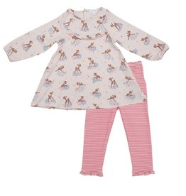 Angel Dear Woodland Deer Ruffle Dress And Legging Set