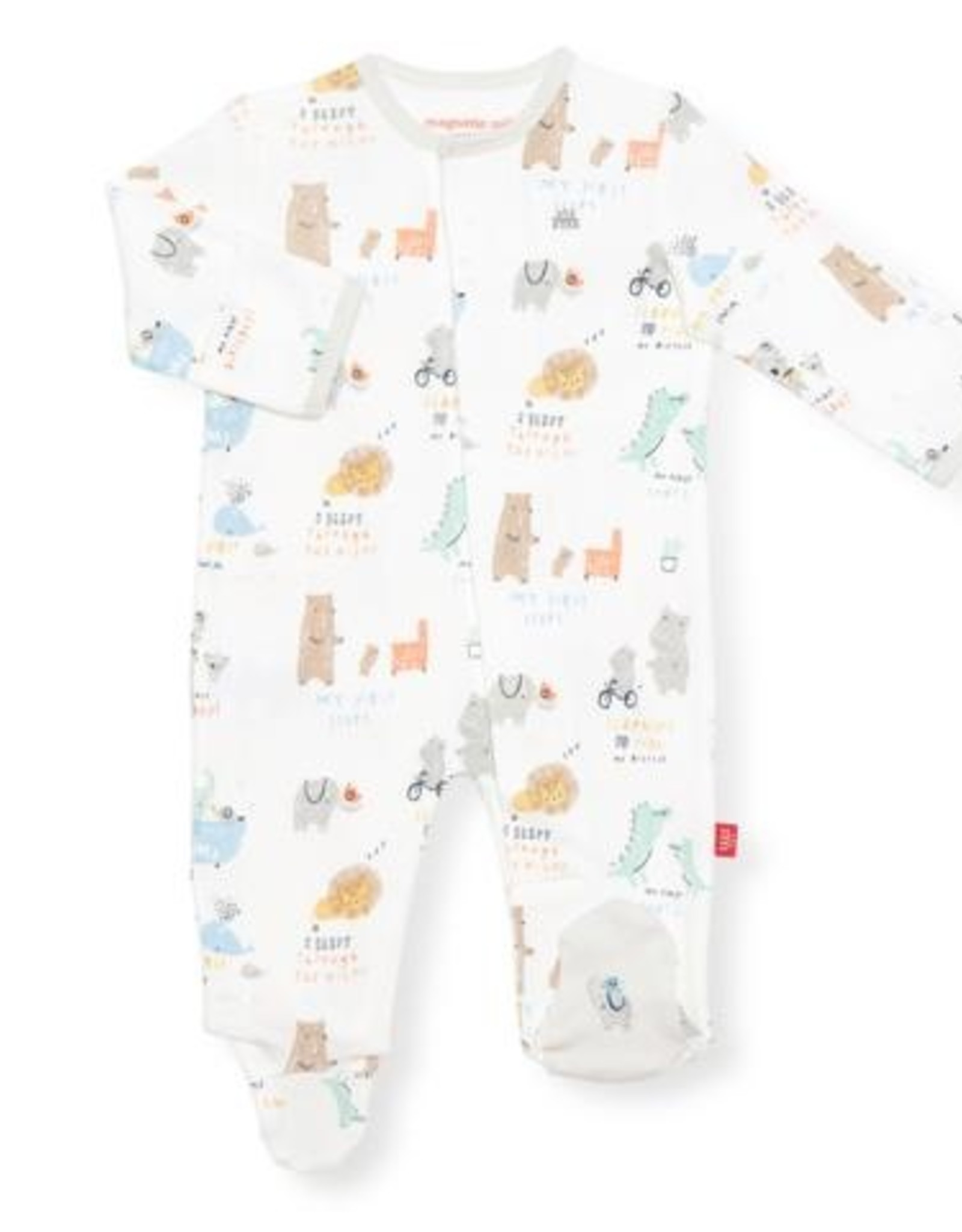 Magnetic Me My Year Of Firsts Organic Cotton Magnetic Footie