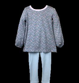 LullabySet Keep Blooming Blue Floral Legging Set
