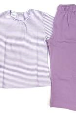 Squiggles Purple And White Stripe Legging Set