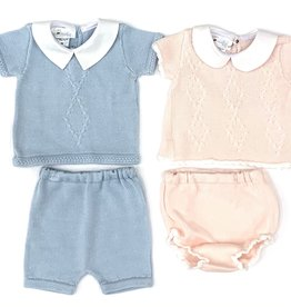 Cuclie Baby Pink Diamond Diaper Set