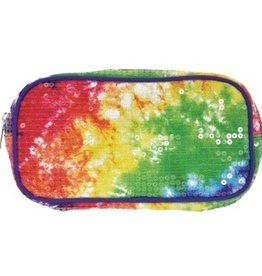 Iscream Sequin Tie Dye Cosmetic Bag