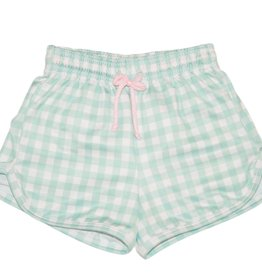 James and Lottie James Swim Mint Check