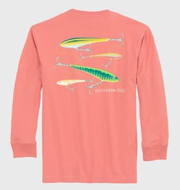 Southern Tide Coral Blush Long Sleeve Flying Lures T-Shrit