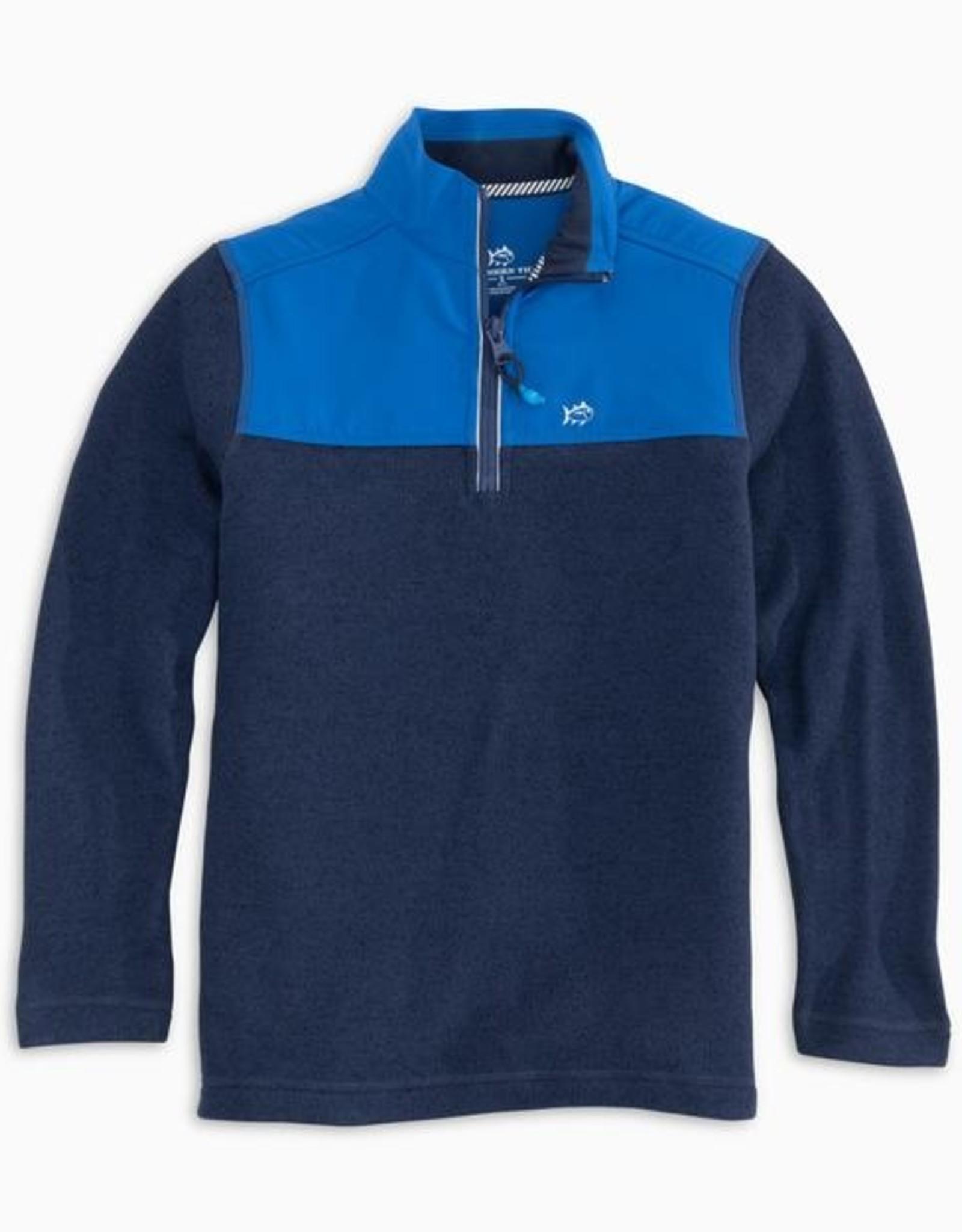 Southern Tide True Navy Sweater Fleece Quarter Zip