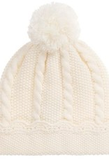 Sarah Louise Ivory Puff Ball Hat