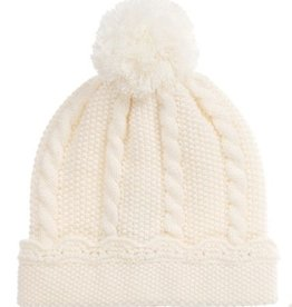 Ivory Puff Ball Hat