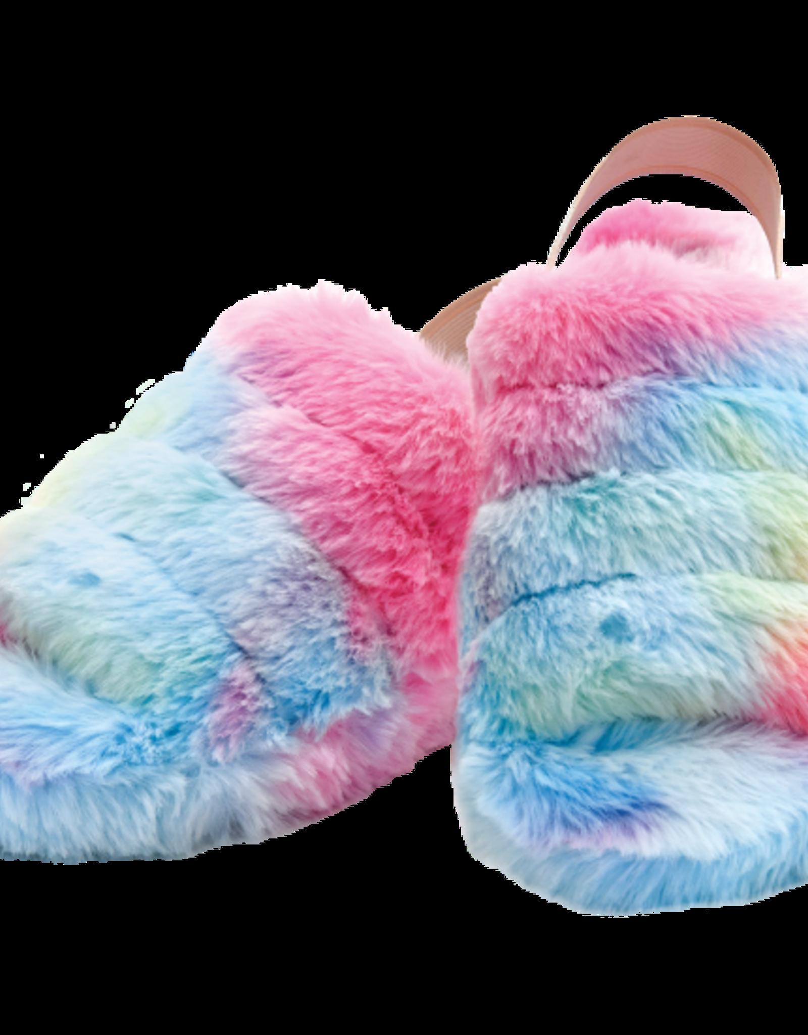 Iscream Rainbow Furry Slippers