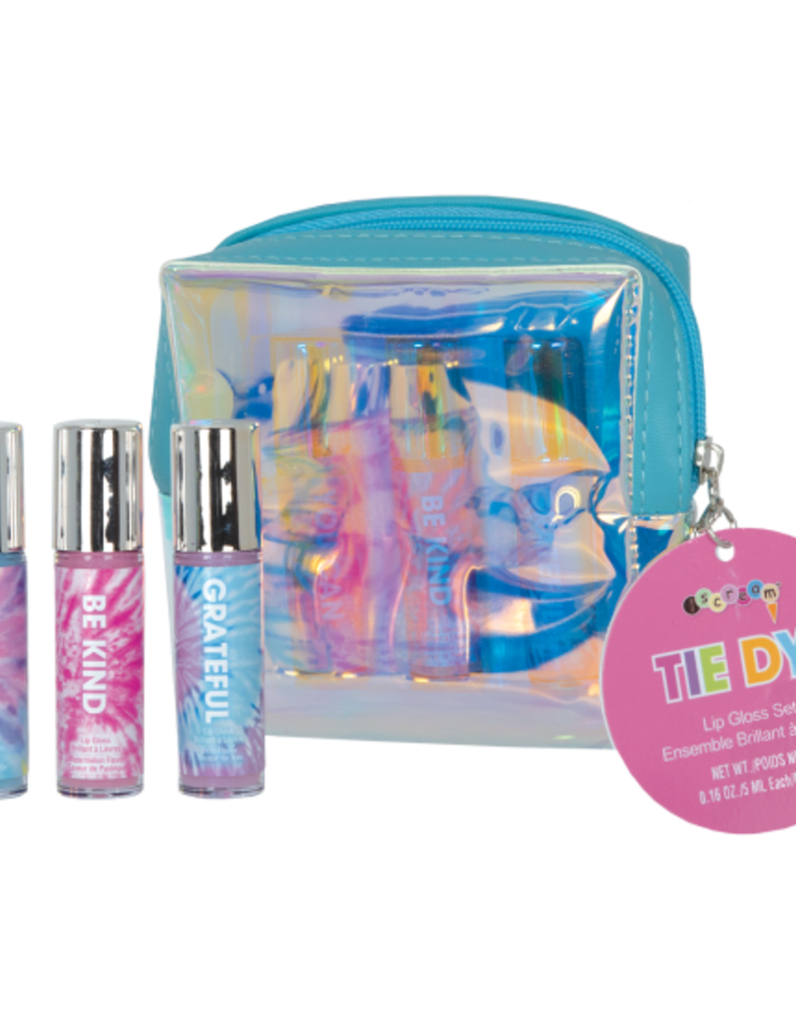 Iscream TIE DYE 3 MINI LIP GLOSSES