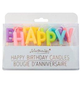 Great Pretenders Rainbow Happy Birthday Candles