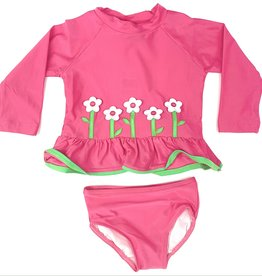 Florence Eiseman Pink Tankini With Flowers