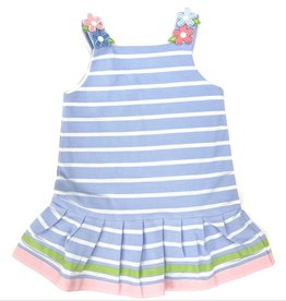 Florence Eiseman Stripe Knit Dress With Flowers