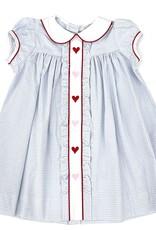 Little English Hearts Ruffled Sally Dress