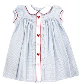 Little English Hearts Ruffled Sally Dress