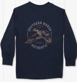 Southern Marsh Inflight Navy FieldTec Comfort Tee