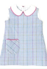 Funtasia Too Plaid Dress With White Collar And Pocket