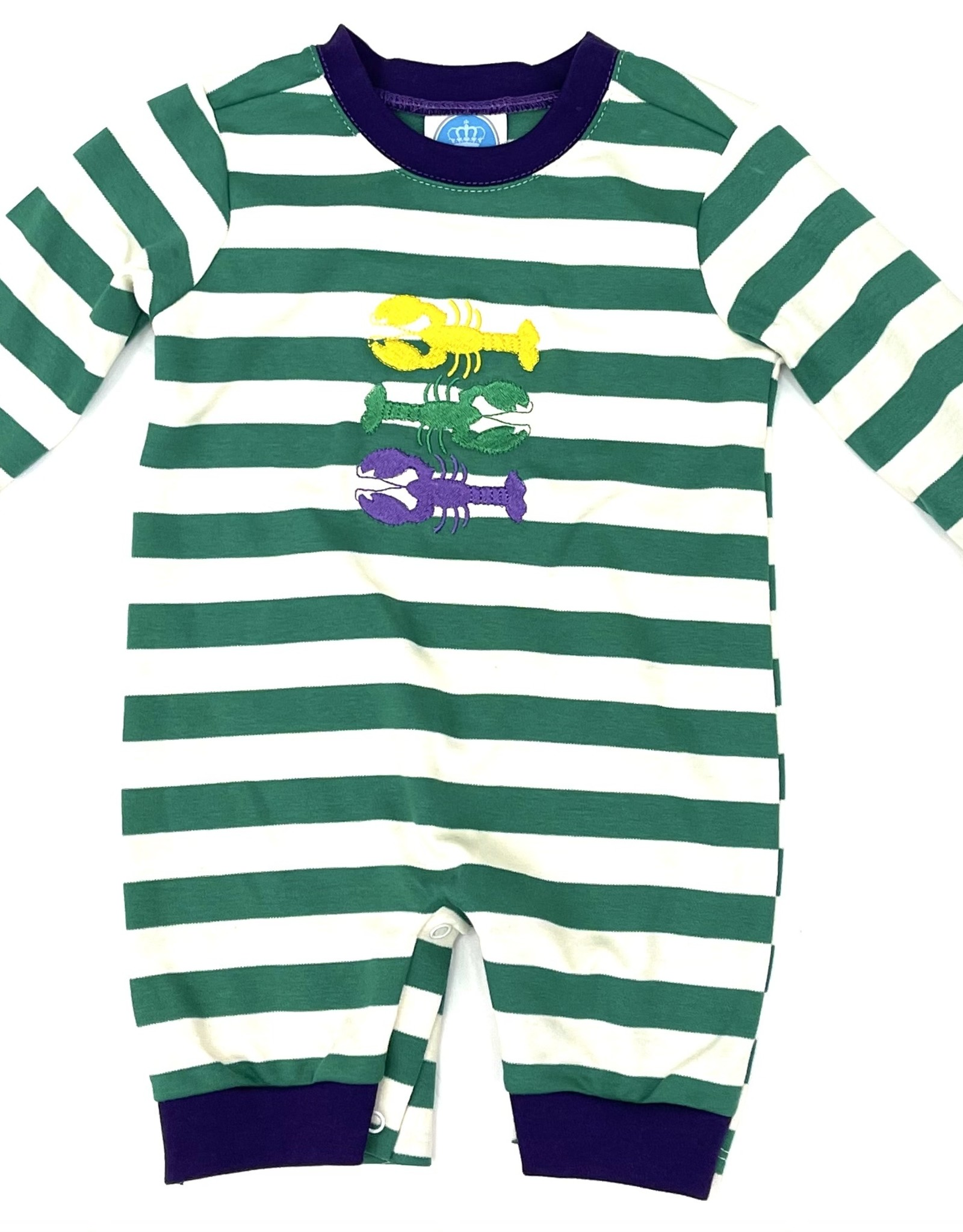 Krewe Knit Crawfish Mardi Gras Romper
