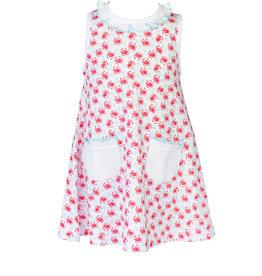 The Proper Peony Crab Girl A-line Dress Ruffle Collar