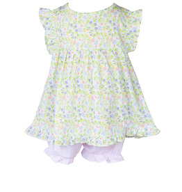 The Proper Peony Garden Floral Girl Bloomer Set