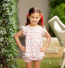 The Proper Peony Strawberry Girl Bloomer Set