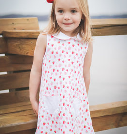 The Proper Peony Strawberries Girl A-line Dress