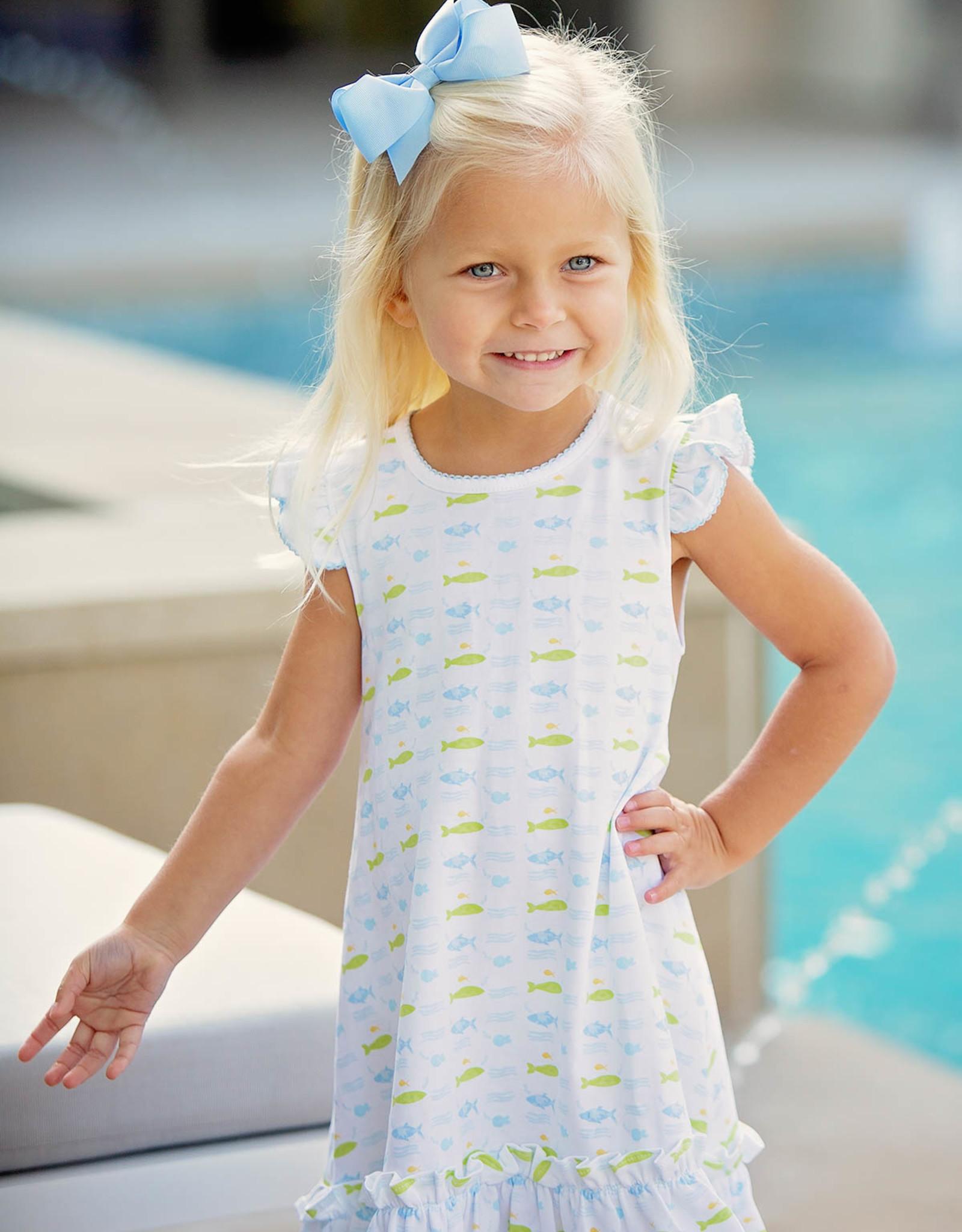 The Proper Peony Fish Girl Ruffles Dress