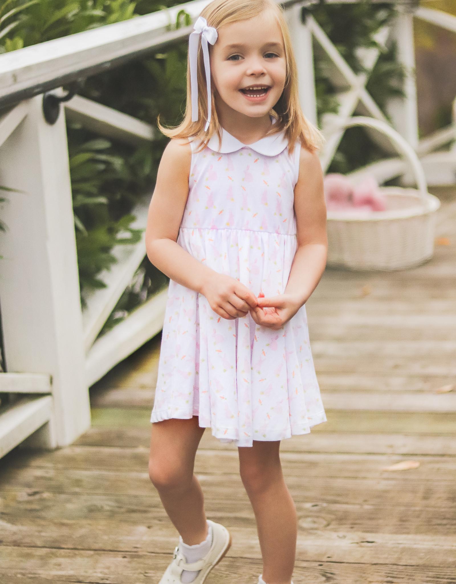 The Proper Peony Pink Bunny Girl Twirl Dress