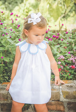 The Proper Peony White/Blue Capri Tulip Dress
