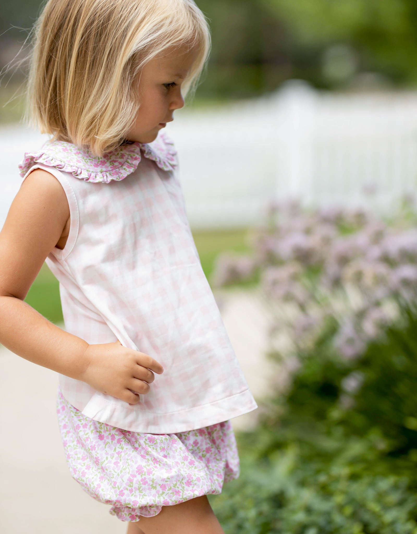 James and Lottie Floral Knit Maisy Bloomer Set