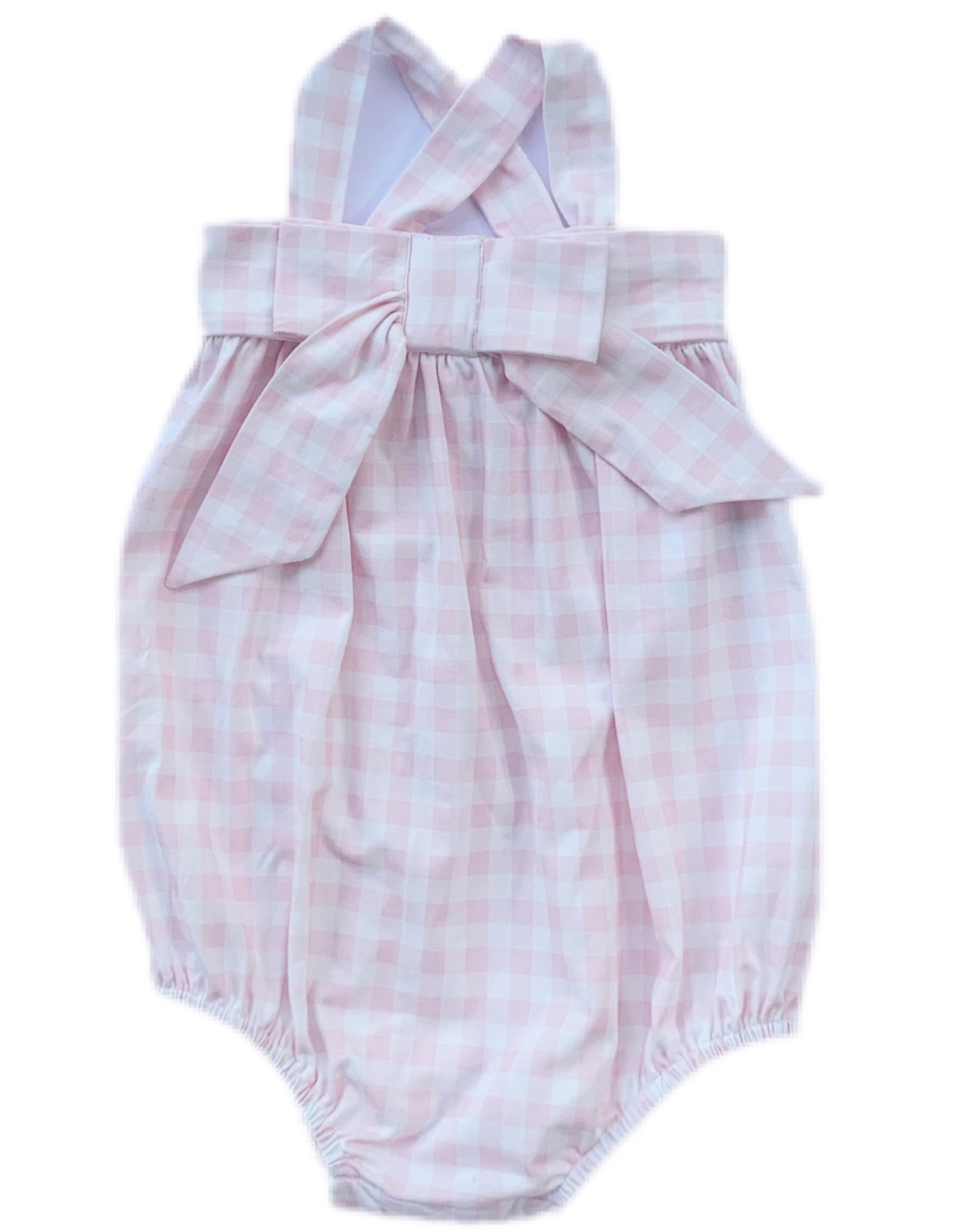 James and Lottie Millie Bubble Pink Gingham