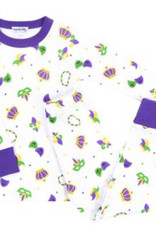 Magnolia Baby Mardi Gras Long Pajamas