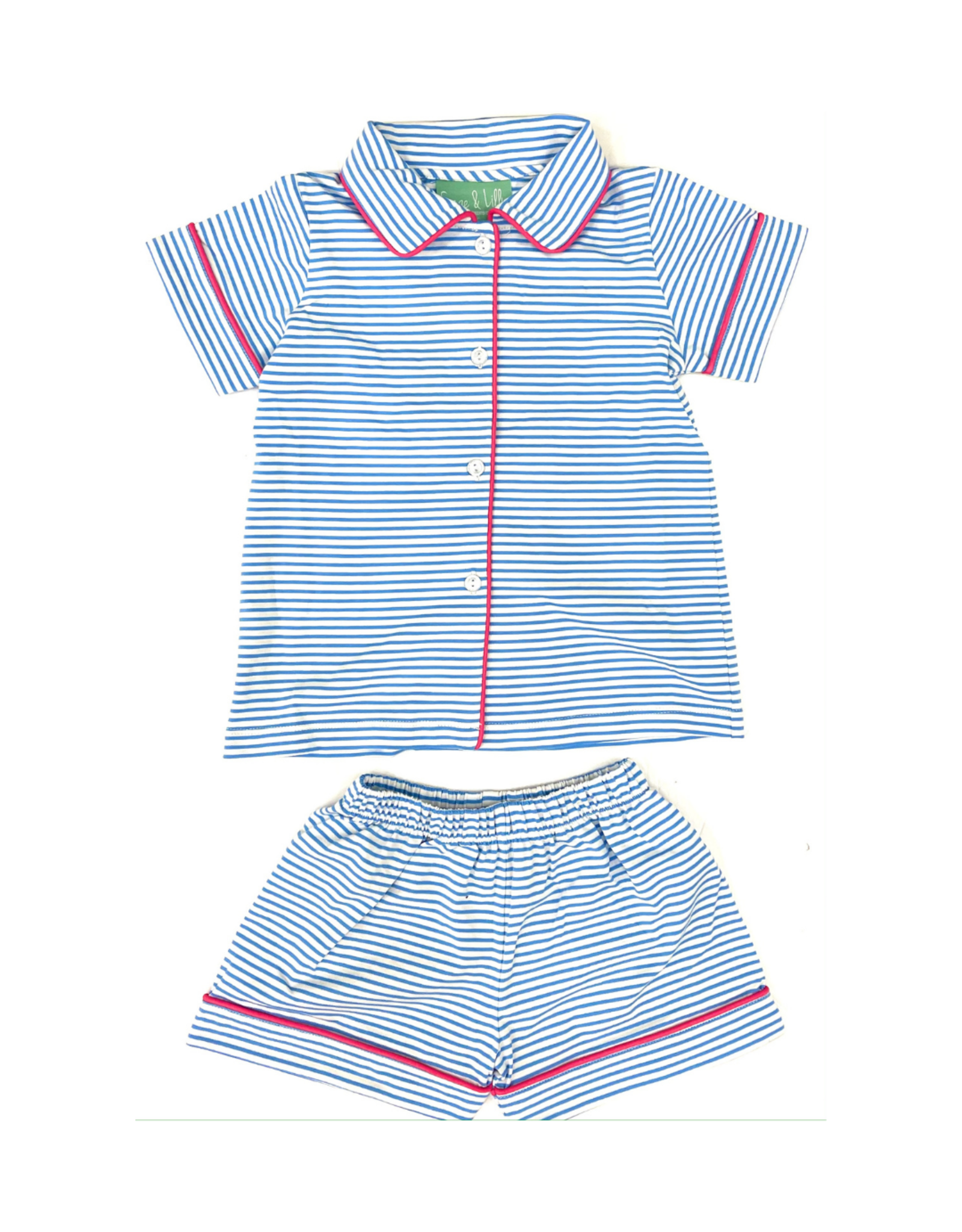 Sage and Lilly Blue And White Stripe Camp Set