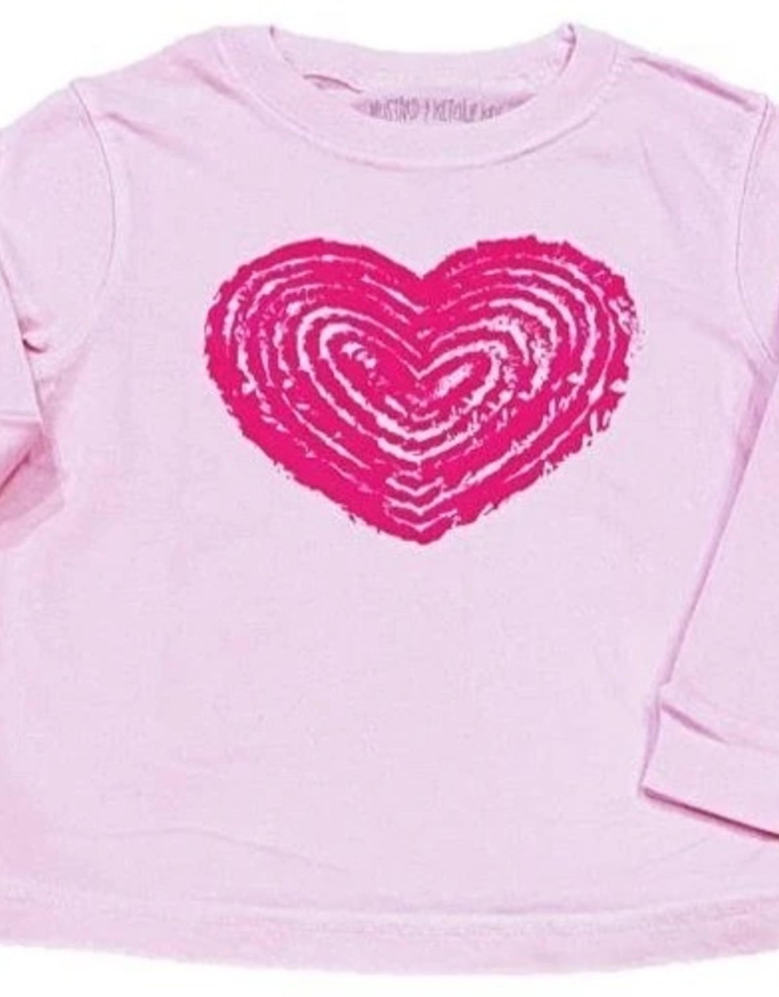 Mustard & ketchup Light Pink Heart Shirt