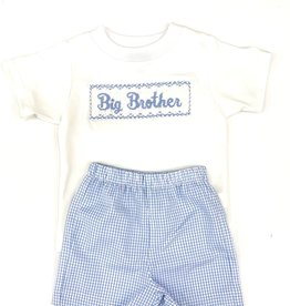 Claire and Charlie Big Brother Blue Check Short Set