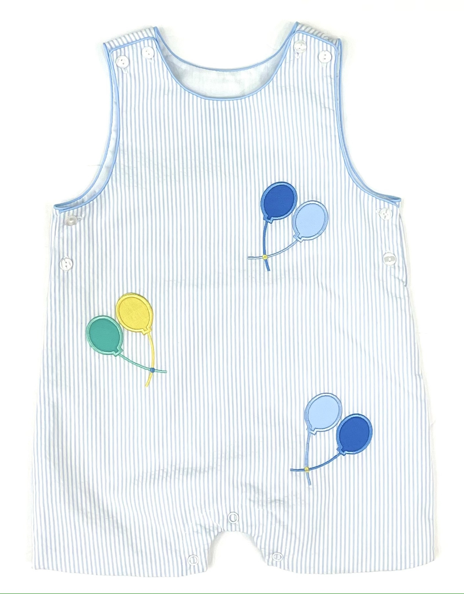 Claire and Charlie Light Bue Stripe Set Birthday Balloons Shortall