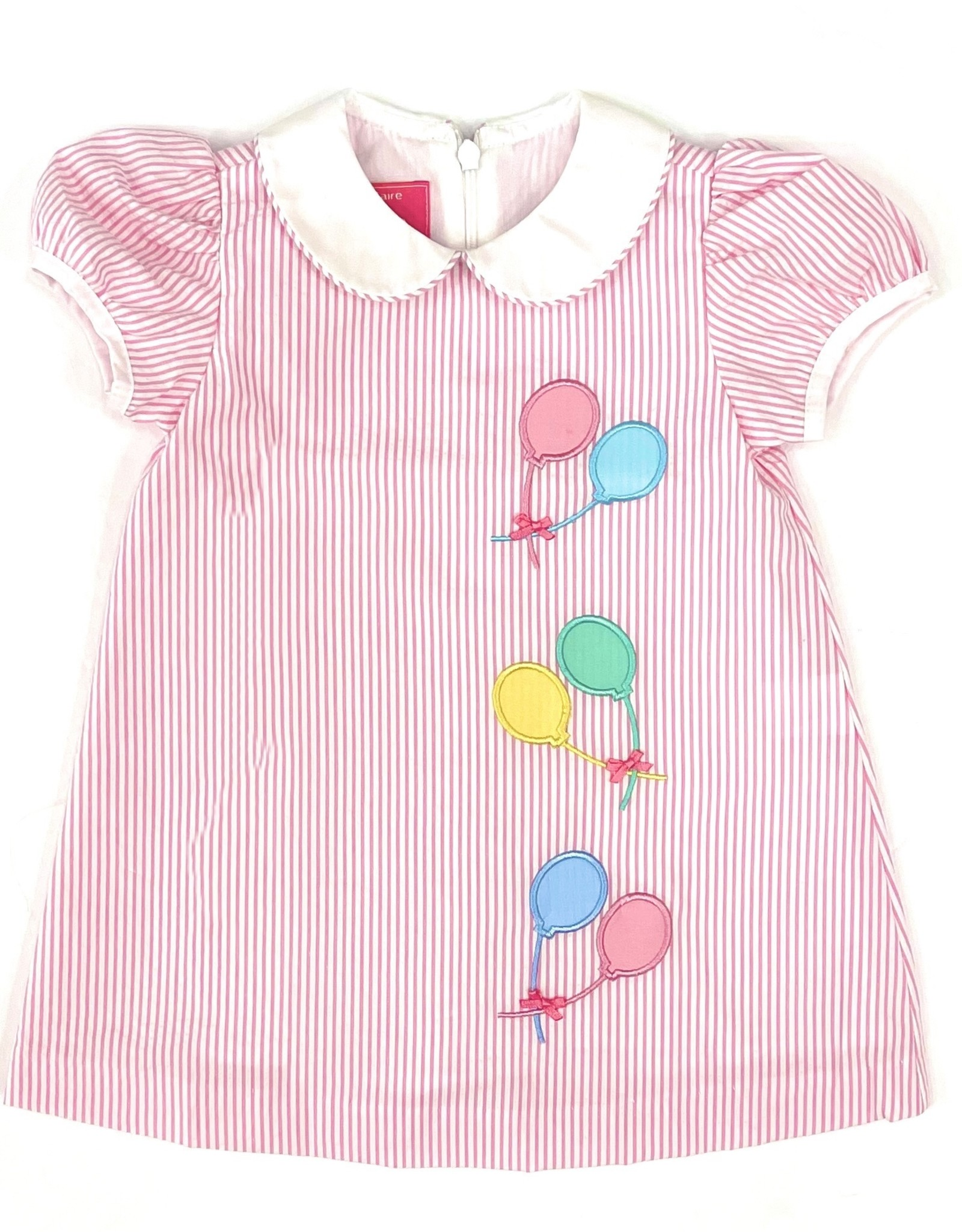 Claire and Charlie Birthday Balloons Float Dress With Collar
