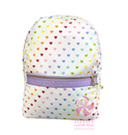 Mint Tiny Hearts Medium Backpack