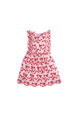 Little English Red Flroal Dianna Dress