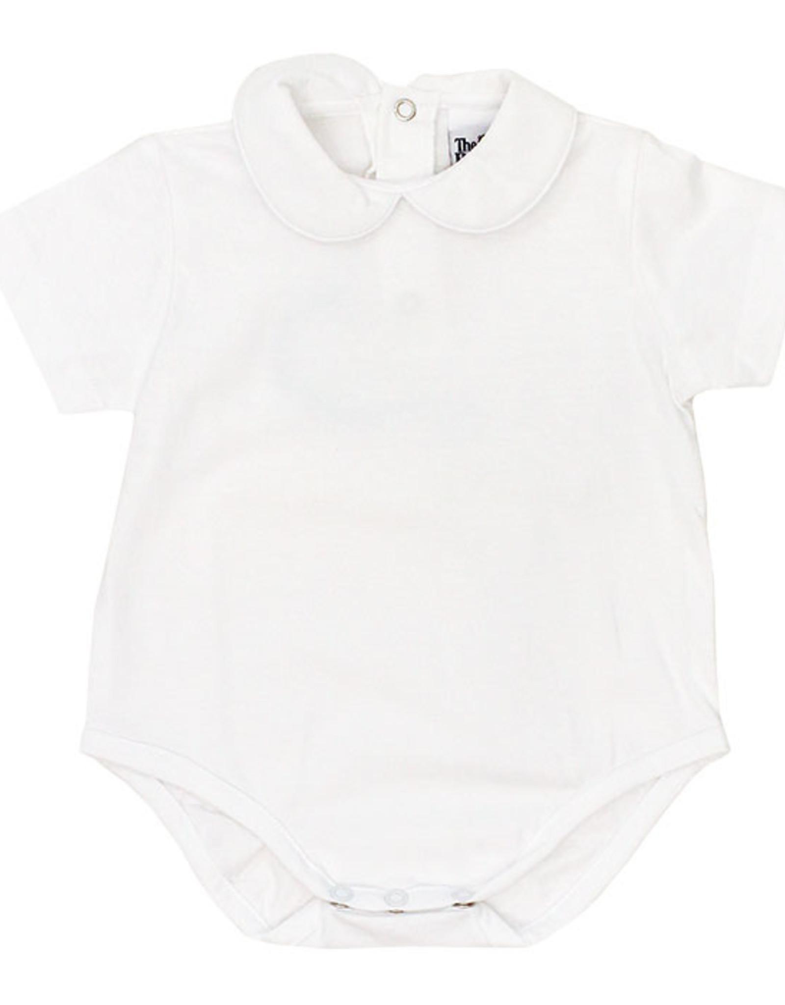 The Bailey Boys Short Sleeve White Knit Boys Onesie