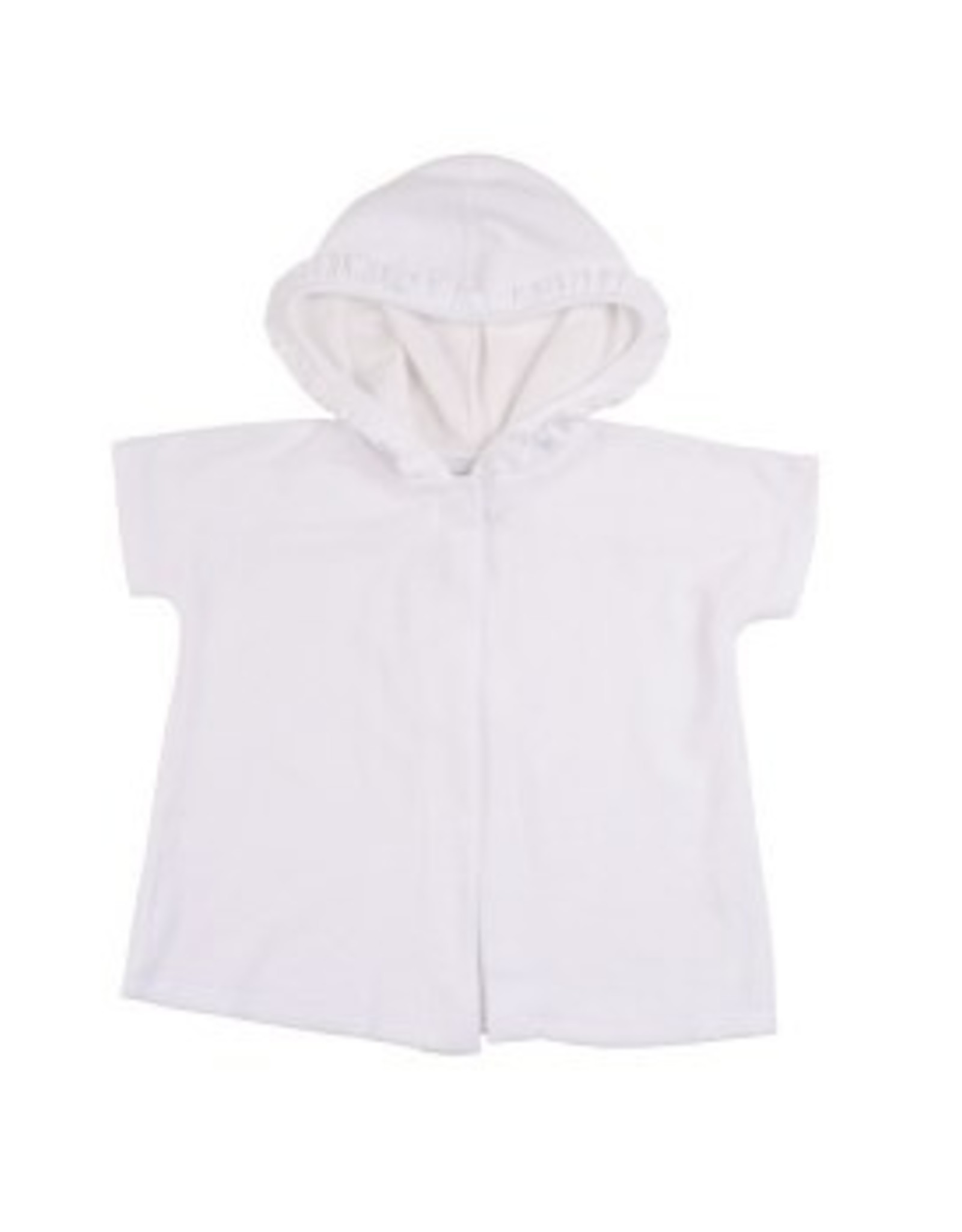 Florence Eiseman White Knitted Terry Hooded Coverup