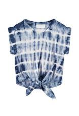 Bella Dahl Girl V-Neck Indigo Tie Dye Top