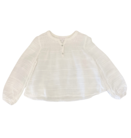Bella Dahl Girl White Smocked Poet Top